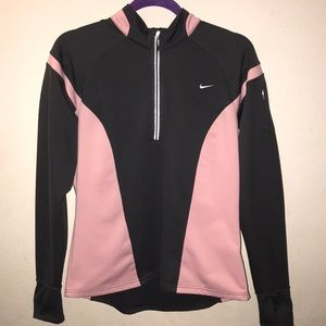 Nike fit dry 3/4 zip up